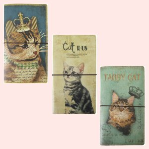 アンティーク調な絵柄のカードホルダー(猫)/3種類|sshana