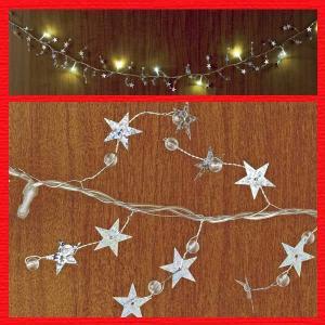 『クリスマス』LEDライトティンセルガーランド|sshana