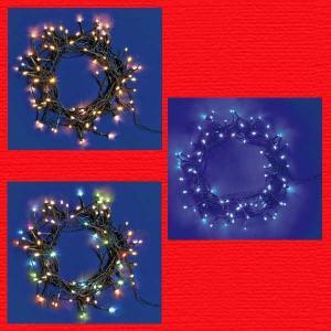 『クリスマス』乾電池式LEDスーパーブライト8パターンイルミネーション(80球)/3種類|sshana