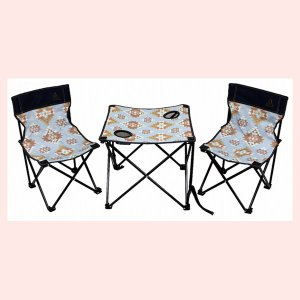 OWLSアウトドアテーブル&チェアセット/インディアンブルー|sshana