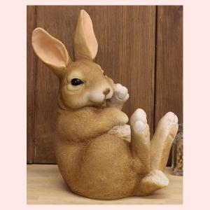レジン製ウサギの置物(M)|sshana
