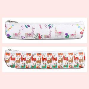 PUレザー製アルパカデザインの歯ブラシポーチ/2種類|sshana