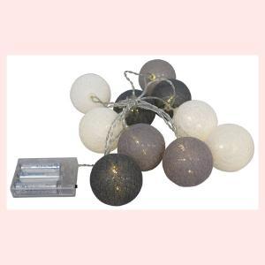 優しい光のインテリアLEDライトボール/ホワイトグレー|sshana