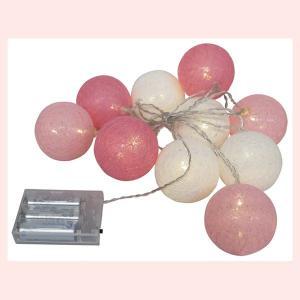 優しい光のインテリアLEDライトボール/ホワイトピンク|sshana