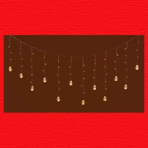 『クリスマス』LEDライトボールガーランド(リモコン付)/ホワイト|sshana
