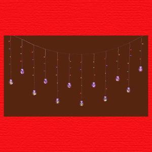 『クリスマス』LEDライトボールガーランド(リモコン付)/ミックス|sshana