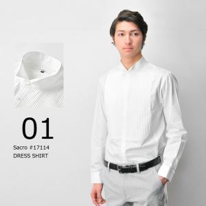 ウィングカラーシャツ ドレスシャツ メンズ パーティー 結婚式 ホワイトシャツ 大きいサイズまで揃う...