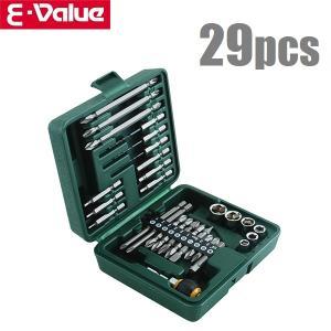 E-Value 工具セット インパクトドライバー ビットセット ビット&ソケットセット BS-4 29PCS ツールセット|ssnet