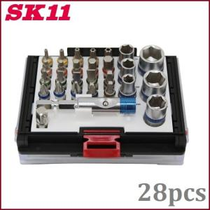 SK11 差替ビットセット/ソケットセット SBS-28PCS 電動ドライバー 充電ドライバー インパクトドライバー|ssnet