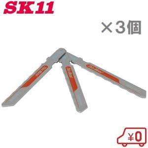 SK11 スイスジクソーブレード T型 鉄鋼用 FT-118A 3枚 〔電動ノコギリ ジグソー E-Value EJ-400SC用替刃〕 ssnet