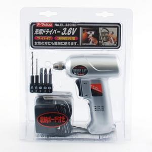 電動ドライバー セット 充電式 電動ドリルドライバーセット E-Value EL-330HB|ssnet|02