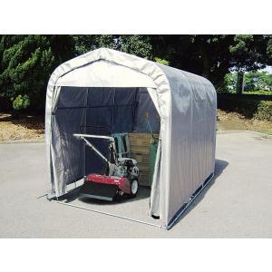 南栄工業 マルチハウス 車庫テント 倉庫 物置 サイクルハウス 自転車置き場 農業倉庫 マルチスペース SMS-150-SVU 1.5坪|ssnet|02