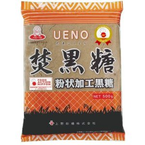 上野砂糖 粉末状 焚黒糖 黒砂糖 500g x 10袋 1ケース|ssnet