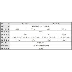 日立 電動ポンプ 循環ポンプ 〔ハンディーポンプ 小型給水ポンプ 家庭用〕 C-P30W|ssnet|02