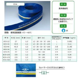 十川産業 排水ホース エコフラットホース 40mm×10m ECO-40 水中ポンプ 農業用ホース 送水ホース 散水ホース エンジンポンプ|ssnet|02