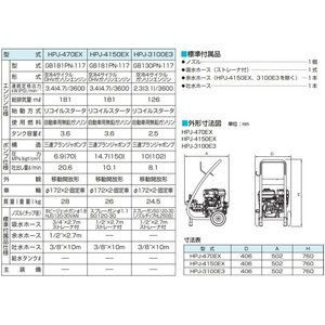 鶴見製作所 業務用 高圧洗浄機 HPJ-3100E3 エンジン式 [プロ仕様 ツルミポンプ タンク式]|ssnet|03