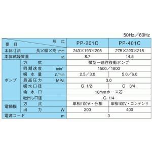 寺田ポンプ 小型 動力噴霧機 動力噴霧器 高圧洗浄機 電動式洗浄機 PP-201C 100V|ssnet|02