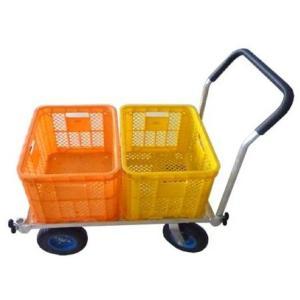 農業用台車 アルミハウスカー ノーパンク 収穫台車 [軽量 運搬車 コンテナ 農機具 農業資材 農業用品]|ssnet|02