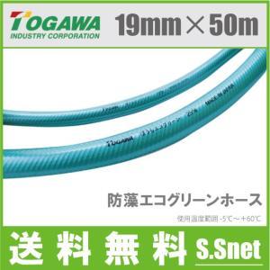 十川 散水ホース 19mm×50m 農業用 業務用 ホース 耐圧ホース 防藻エコグリーンホース|ssnet