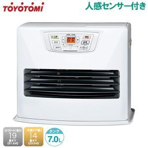 石油 ファンヒーター 灯油 人感センサー付 おしゃれ 暖房器具 暖房機器 トヨトミ LC-S53H-W|ssnet