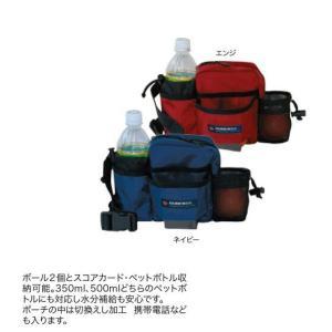 マレットゴルフ 用品 ランファス RUNFASSメッシュボトルポーチ M-55|sso-jpstore
