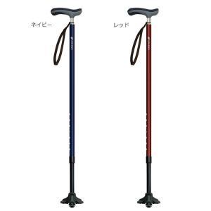 滑りにくい3点先ゴム装着シリーズ SINANO シナノ 二質複合成型&抗菌グリップ 抗菌楽ーダ+ 杖 ステッキ メンズ用 レディース用 sso-jpstore