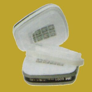3M 防毒マスク 6000シリーズ専用吸収缶(防塵・有機ガス用) 6001/5911-S1 ろ過材・リテイナー付き 1組(2個入)|sspaint