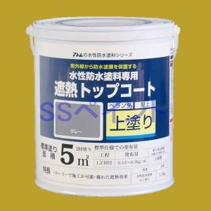 アトムハウスペイント 水性防水塗料 遮熱トップコート(上塗り) 色:遮熱グレー 1.5kg|sspaint