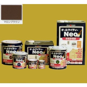 アトムハウスペイント つやあり水性塗料 オールマイティーネオ 色:マロンブラウン 14L(一斗缶サイズ) sspaint