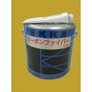 EKKA(エッカ) カーボンファイバーパテ 硬化剤付セット 3.68kgセット|sspaint