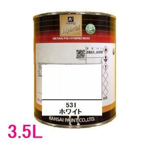 自動車塗料 関西ペイント 94-384-531 レタンPGハイブリッドエコ 531 ホワイト 3.5L sspaint