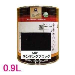 自動車塗料 関西ペイント 94-384-582 レタンPGハイブリッドエコ 582 チンチングブラック 0.9L sspaint