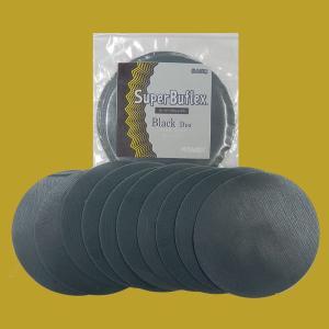 コバックス スーパーバフレックス ブラック ディスク(袋) マジック式 125ミリ丸型 穴なしP-0 粒子3000番相当 10枚入/袋 sspaint