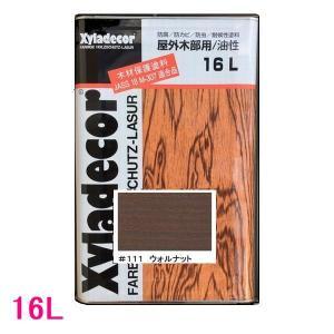 (N)キシラデコール 屋外用 油性 高性能木部保護塗料 色:#111 ウォルナット 16L(一斗缶サイズ)|sspaint