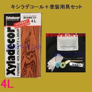 塗装をするうえで便利なセットをご用意しました。 単品で購入するよりお得です!  キシラデコール ○木...