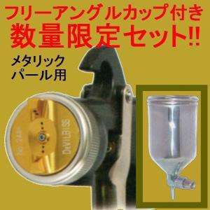 (数量限定)(K) DEVILBISS デビルビス スプレーガン LUNA 2-R-244PLS-1.3-G-K 小型 重力式 フリーアングル塗料カップ付セット sspaint
