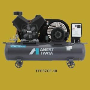 アネスト岩田(イワタ)コンプレッサー レシプロ オイルフリータイプ TFP37CF-10 M5/M6 三相200V 5馬力 sspaint