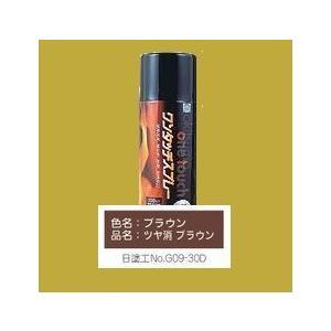 オキツモ ワンタッチスプレー ツヤ消  耐熱650℃ 色:ブラウン 300ml