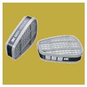 (数量限定)3M 防毒マスク 6000シリーズ専用吸収缶(有機ガス用) 6001 1組(2個入)|sspaint