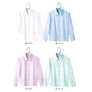 E1801 ブラウス 神馬本店(selectstage)事務服・制服メーカーカタログより40%OFF5号〜19号 再生ポリエステル75%・綿25%|sss-uniform