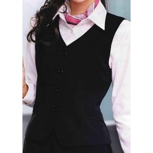 E2411  ベスト 神馬本店(selectstage)事務服・制服メーカーカタログより40%OFF5号〜19号 ポリエステル100%|sss-uniform