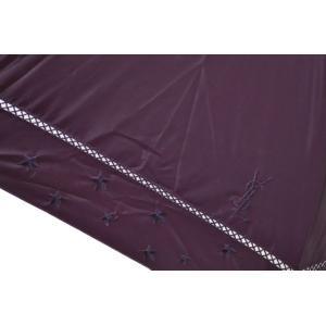 訳あり イヴサンローラン 日傘 傘 レディース 1級遮光 パープル 女性 ブランド UVカット 晴雨兼用 長傘|ssseason|02