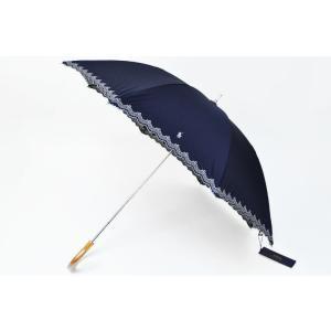 ラルフローレン スカラップ 晴雨兼用  日傘 ネイビー×白...