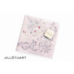 ジルスチュアート タオルハンカチ レディース ブランド 1枚 JILLSTUART ピンクパープル シャンデリアの画像