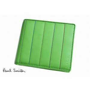 d1d5dc73fb0a ポールスミス 二つ折り財布 財布 メンズ ブランド Paul Smith 専用箱付 キルティングストライプ グリーン