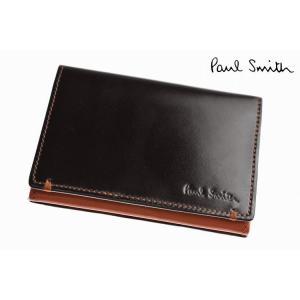 ポールスミス 名刺入れ カードケース メンズ ブランド Paul Smith NEW コードバン 専...