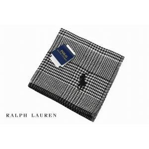 ポロ ラルフローレン タオルハンカチ ハンカチ メンズ ブランド 1枚 Ralph Lauren ブラック  ホワイト 千鳥格子 グレンチェック 男性 紳士の画像