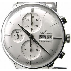 即納可 ユンハンス 国内正規品 JUNGHANS 腕時計 マイスター クロノスコープ 027 4121 44 オートマティック ssshokai