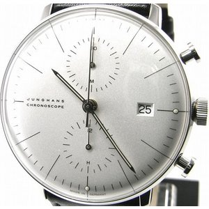 即納可 ユンハンス 国内正規品 JUNGHANS 腕時計 マックスビル クロノスコープ 027 4600 00 オートマティック ssshokai
