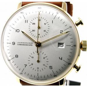 即納可 ユンハンス 国内正規品 JUNGHANS 腕時計 マックスビル クロノスコープ 027 7800 00 オートマティック ssshokai